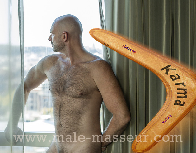 Massage boomerang and Karma